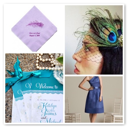 Peacock Wedding Board